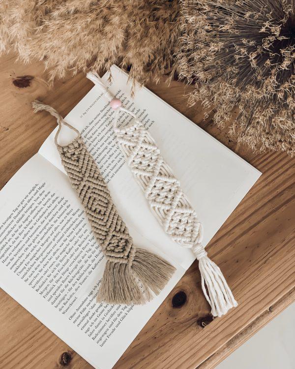 Makramee Lesezeichen - Boho Lesezeichen - Geschenkidee für Buchliebhaber - Lady Handgemacht by Tamara Wagner