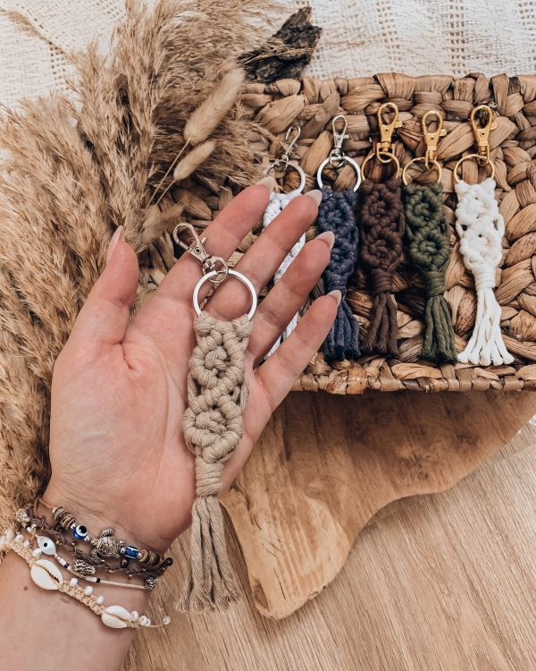 Makramee Anhänger - Boho Schlüsselanhänger - Taschenanhänger - Accessoires zu verschenken - Geschenkidee - Handmade - Schlüsselanhänger für den Campervan - Lady Handgemacht by Tamara Wagner